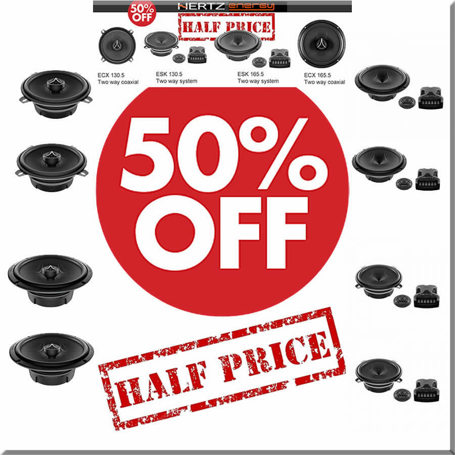 half price car speakers