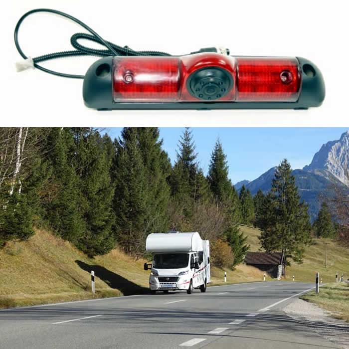 Camper van rear parking camera
